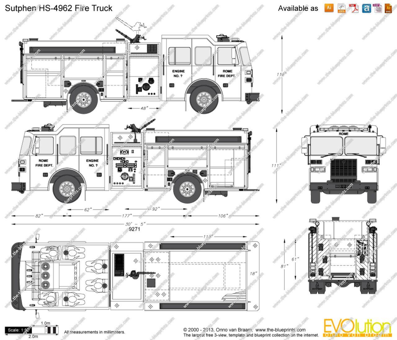 Sutphen Hs Fire Truck