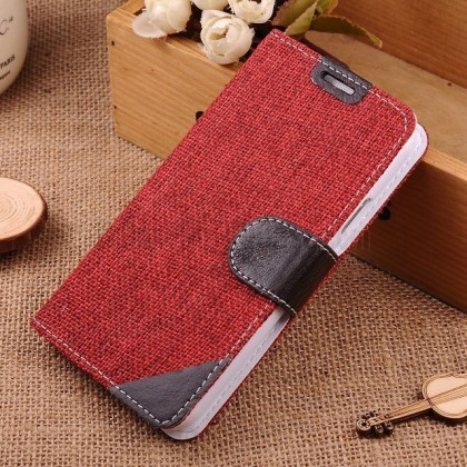 http://www.gajetto.nl | Country Style Linen Leather Flip Case for Samsung Galaxy S5 i9600 Wine Red - Best Samsung Galaxy S5 Case galaxy s5 case  galaxy s5