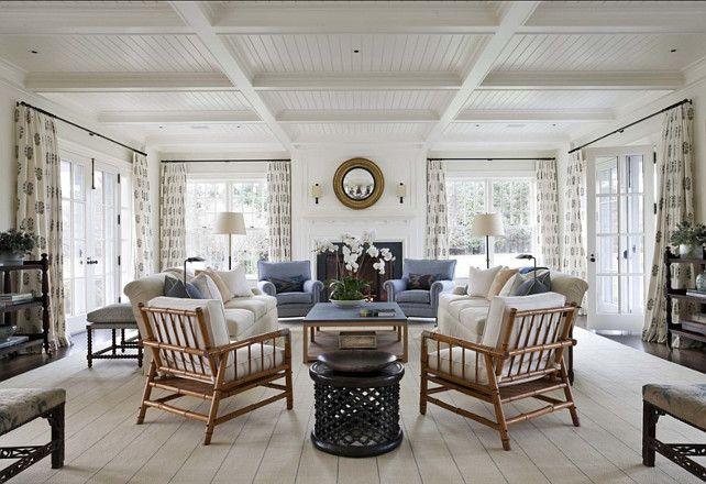 stunning east hampton living room design | A Classic Hamptons House on Further Lane Farm | Living ...