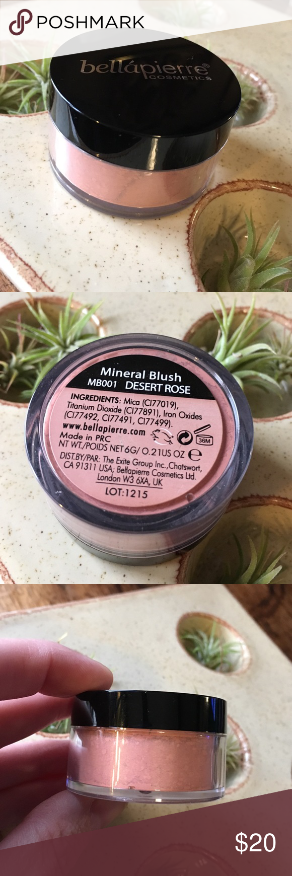 "New Bella Pierre mineral Blush in Desert Rose. New Bella Pierre mineral Blush in Desert Rose. Described on their site as ""Peachy soft pink."" Never been opened.  I'm open to reasonable offers and give bundle discounts! ☮️✌️️ bella pierre Makeup Blush"