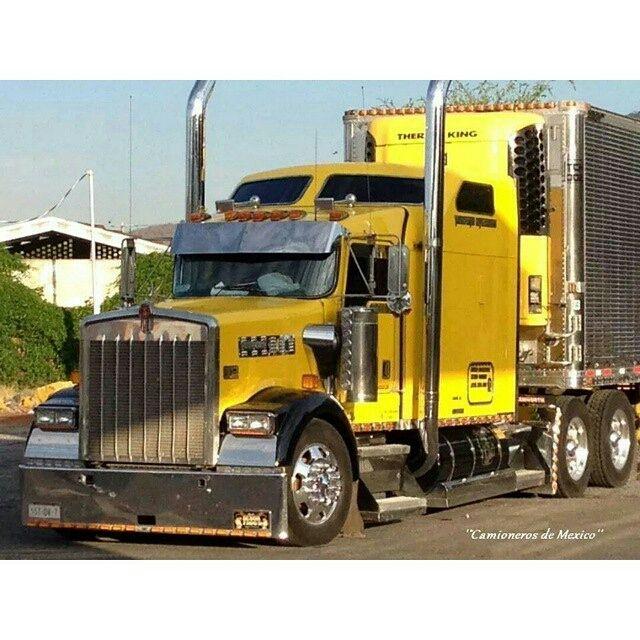 Kenworth Custom W900l With Matchin Reefer Peterbilt Trucks Kenworth Trucks Big Trucks