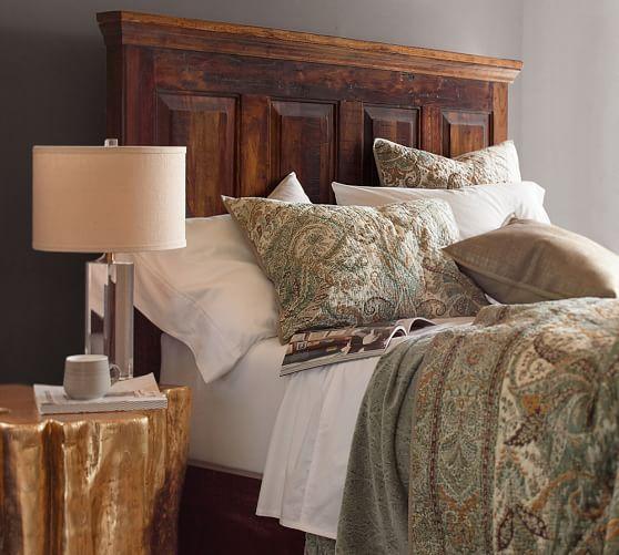 Bowry Reclaimed Wood Bed | Pottery Barn | DORMITORIOS PRINCIPALES ...