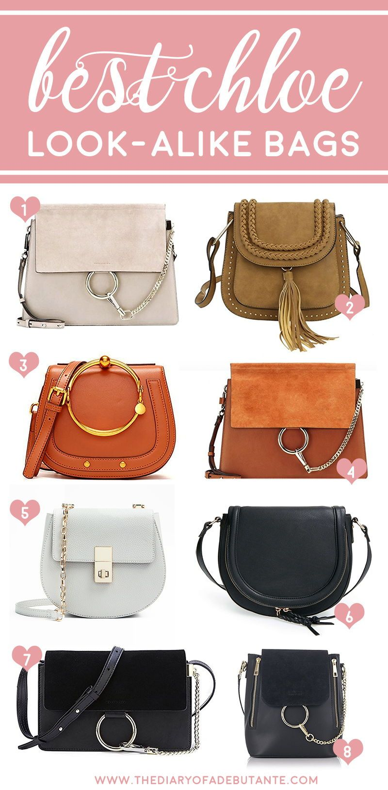 A round-up of all the best Chloe dupe bags in one place! Click