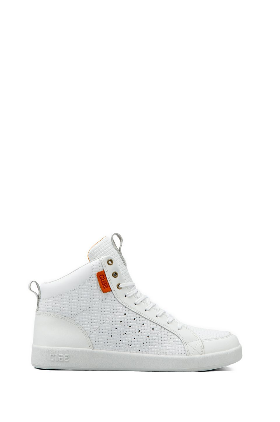 Clae Russell in White Embossed Leather from REVOLVEclothing