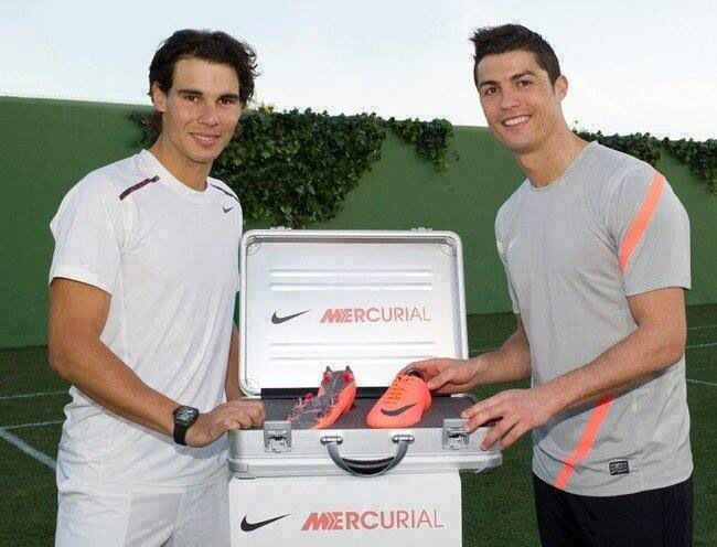 Rafa Nadal y Cr7 <3