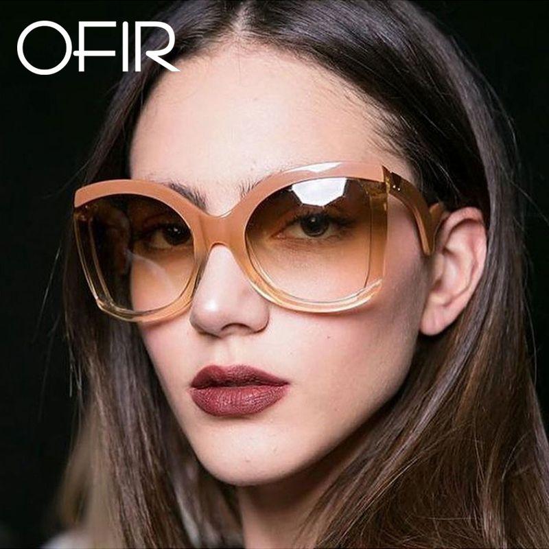 f7332d2cf4b OFIR 2018 Black Clear Oversized Square Sunglasses Women Gradient Summer  Style Classic Woman Sun Glasses Big Frame 2018 De So