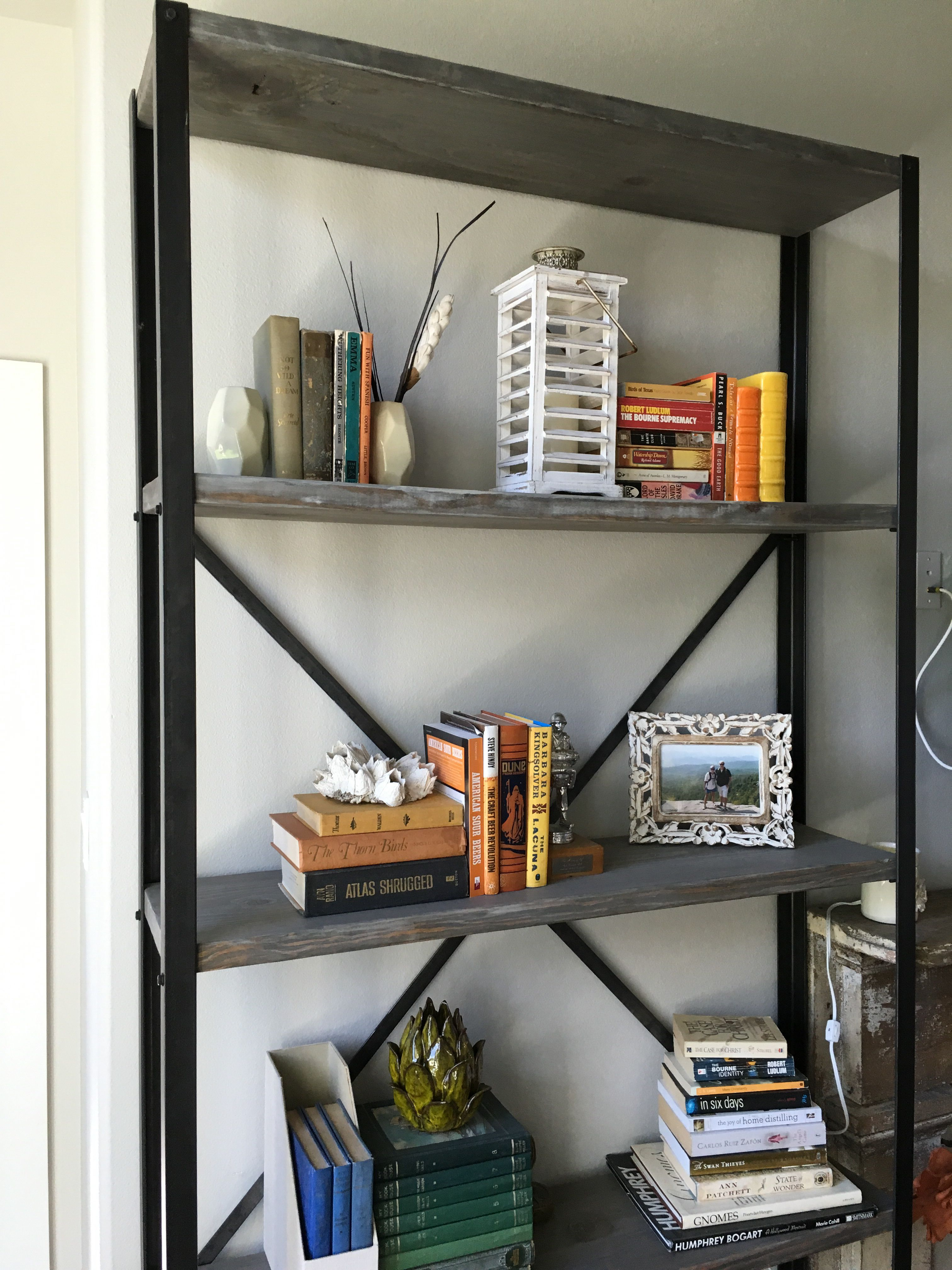 DIY - Restoration Hardware angle-iron bookshelf for <$100