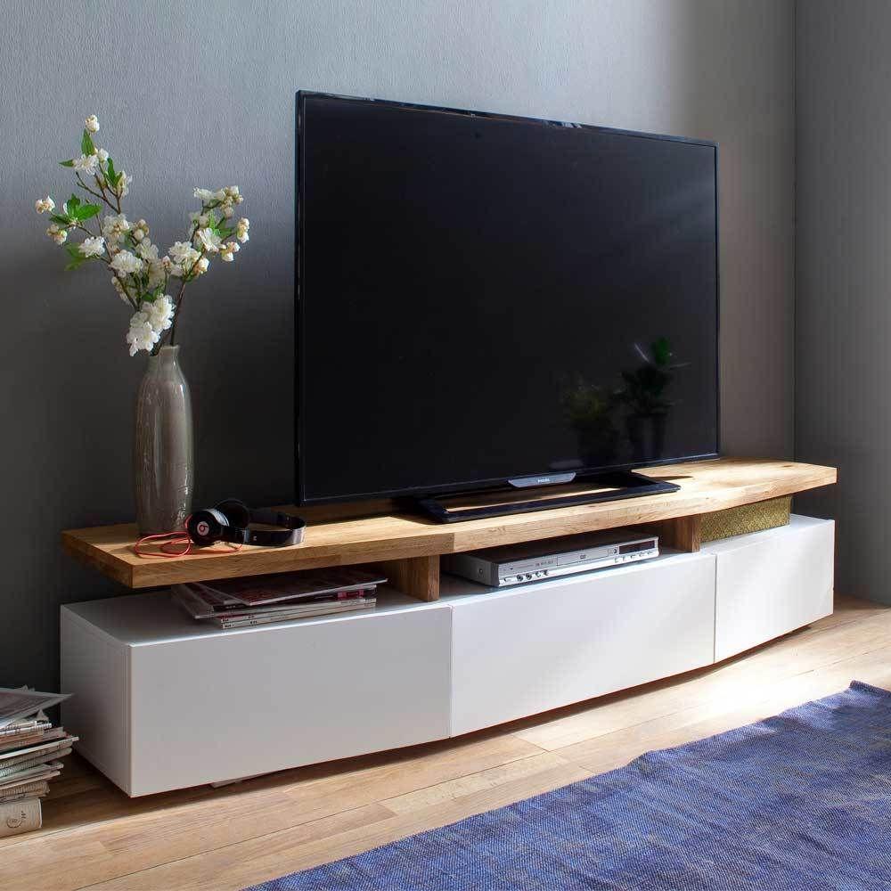 TV Unterschrank in Weiß Eiche lackiert Jetzt bestellen unter ...