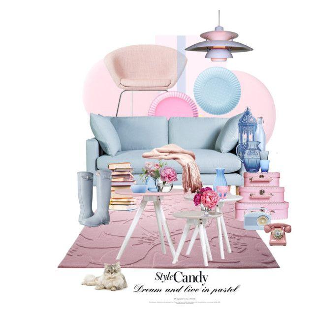 """La Petite Pièce Bonbon / The Little Candy Room"" by halfmoonrun ❤ liked on Polyvore featuring interior, interiors, interior design, home, home decor, interior decorating, Arper, Dot & Bo, ESPRIT and Clips"