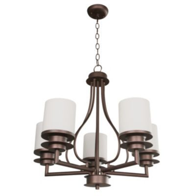 SM Lámpara de techo Colgante cinco luces vidrio óxido E27
