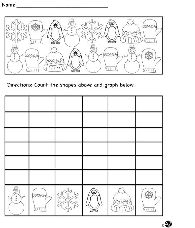 Winter Math Graphing Fun Graphing Fun Winter Math Graphing Winter graphing worksheets kindergarten