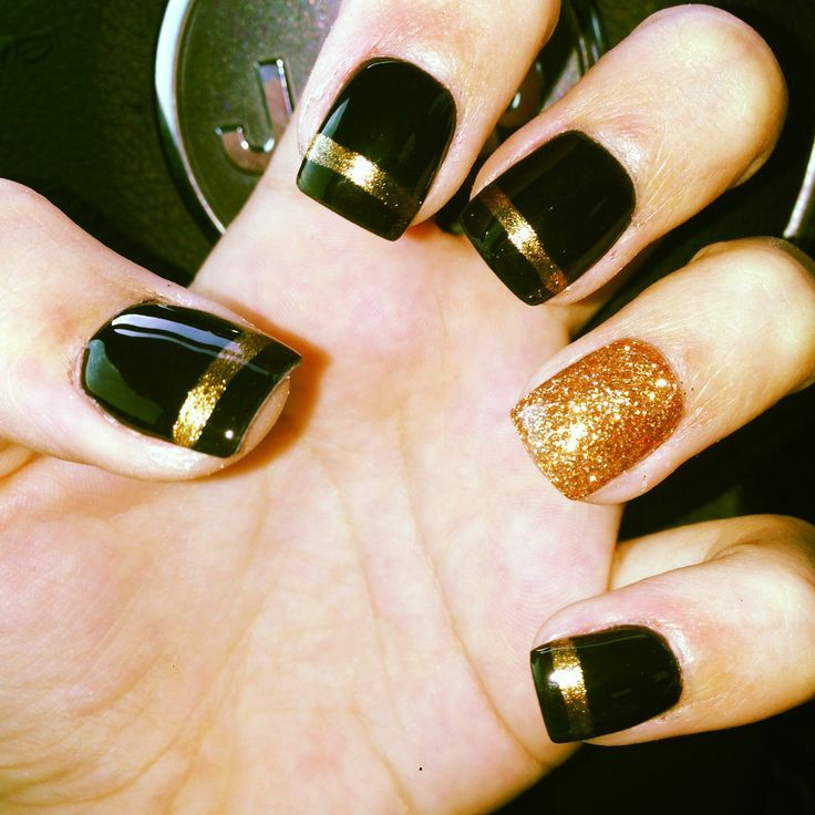 Simple Black and Gold Nail Designs You Can Do Yourself! | Nail ... | Nails  | Pinterest | Gold nail, Black nails and Dark nail designs - Simple Black And Gold Nail Designs You Can Do Yourself! Nail