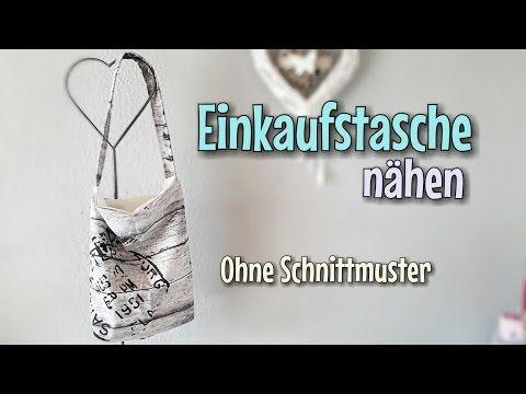 Einkaufstasche Nähanleitung - Ohne Schnittmuster - Anfänger ...