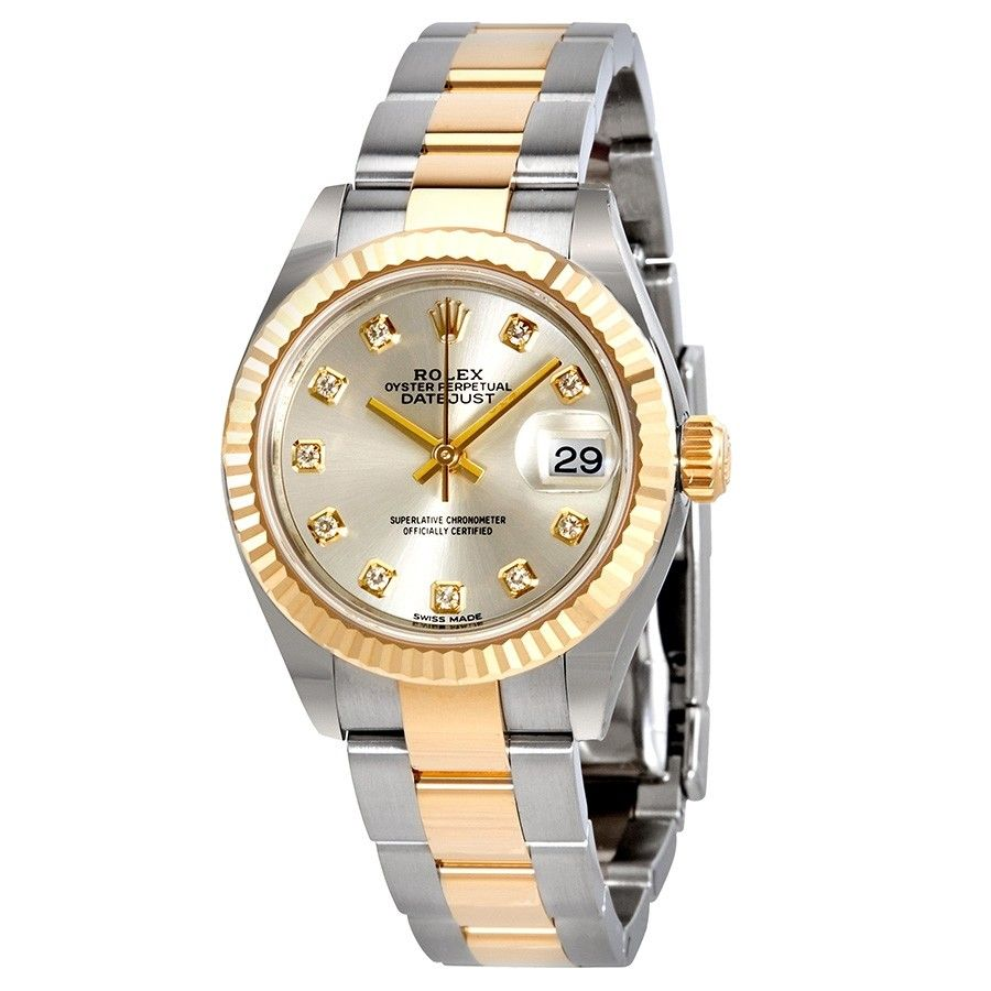 Rolex Lady-Datejust Silver Diamond Dial Automatic Ladies Watch 279173SDO #rolexwatches