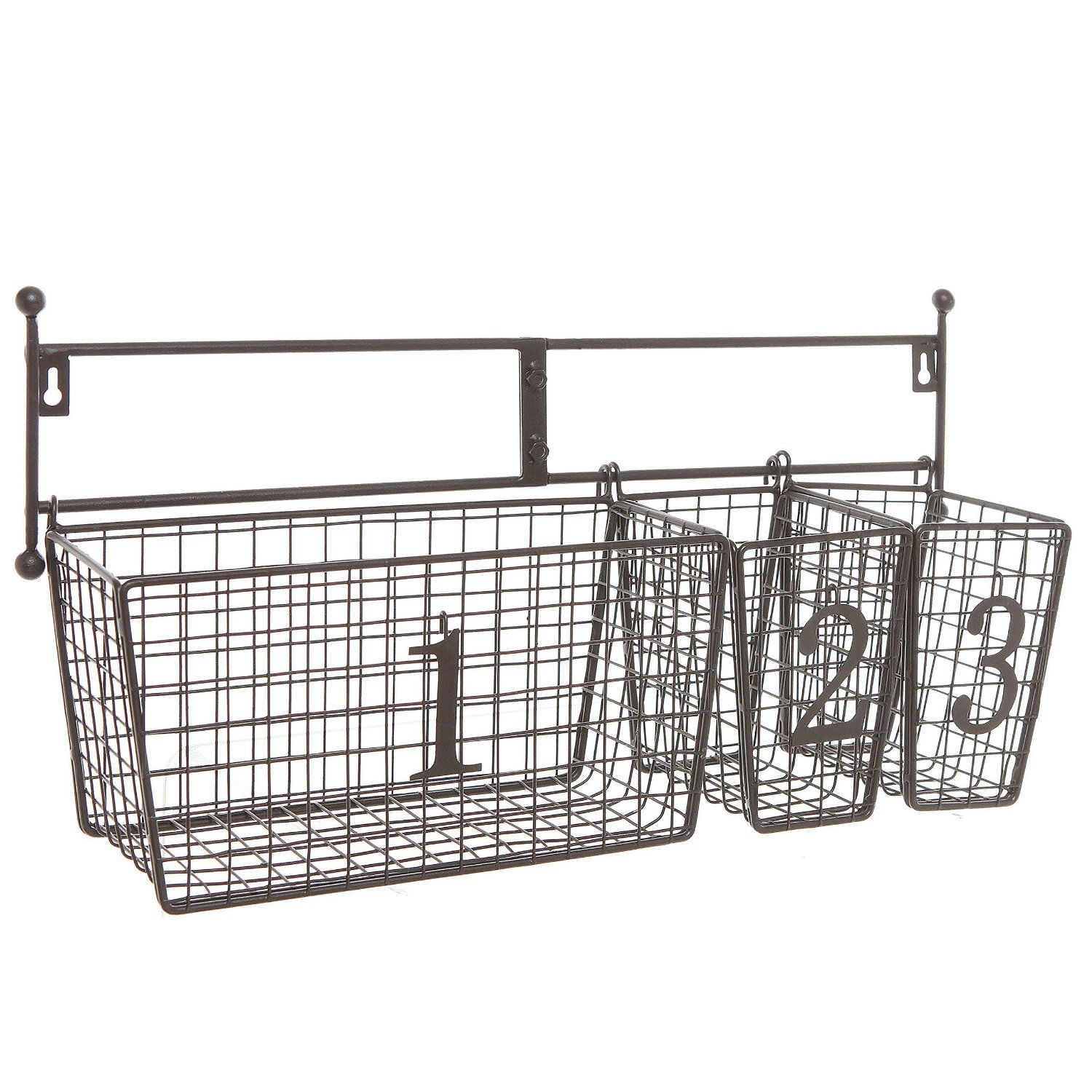 Wall Mounted Black Metal Wire Mesh Numbered