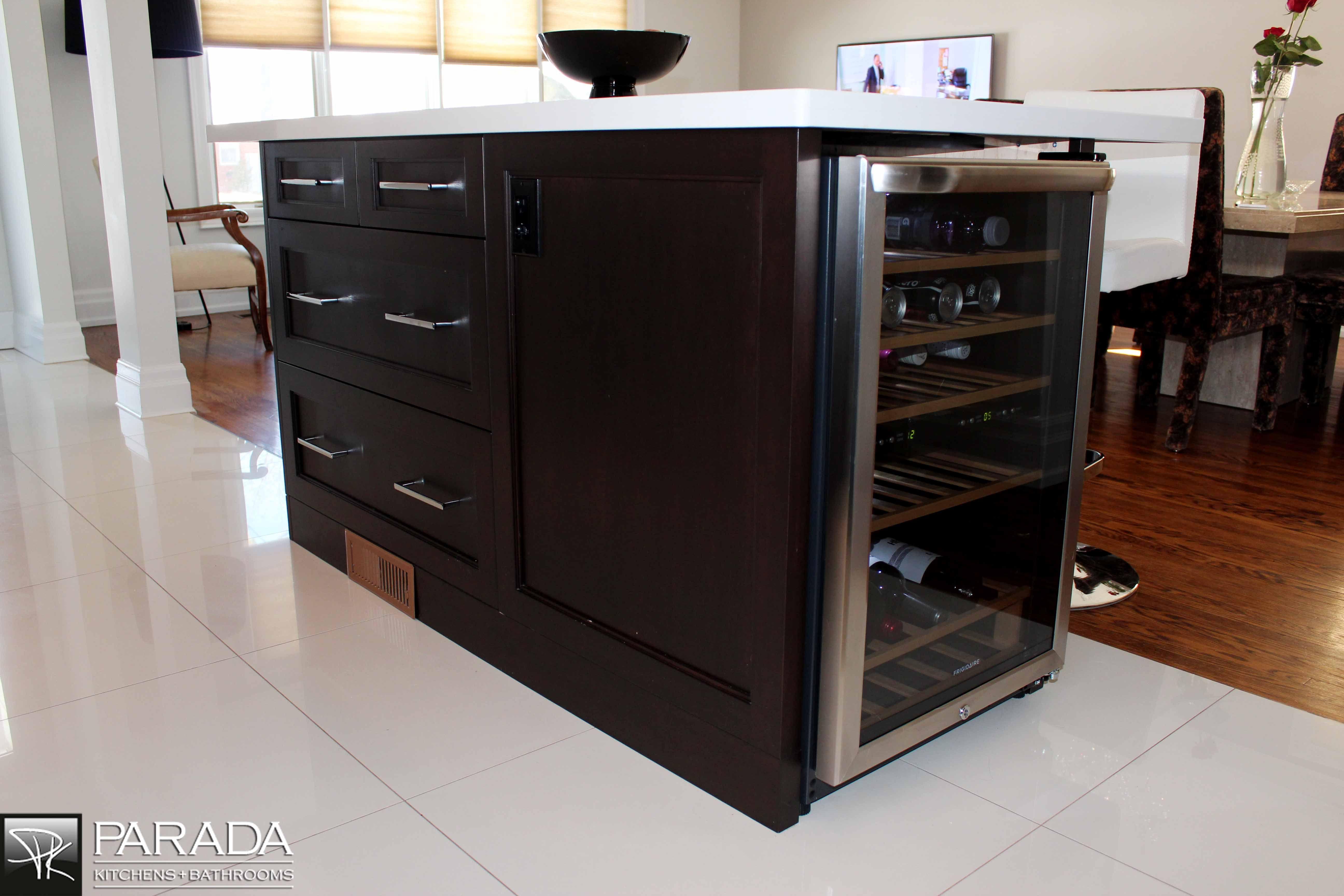 built-in wine cooler.   KITCHEN CABINET DESIGNS   Pinterest