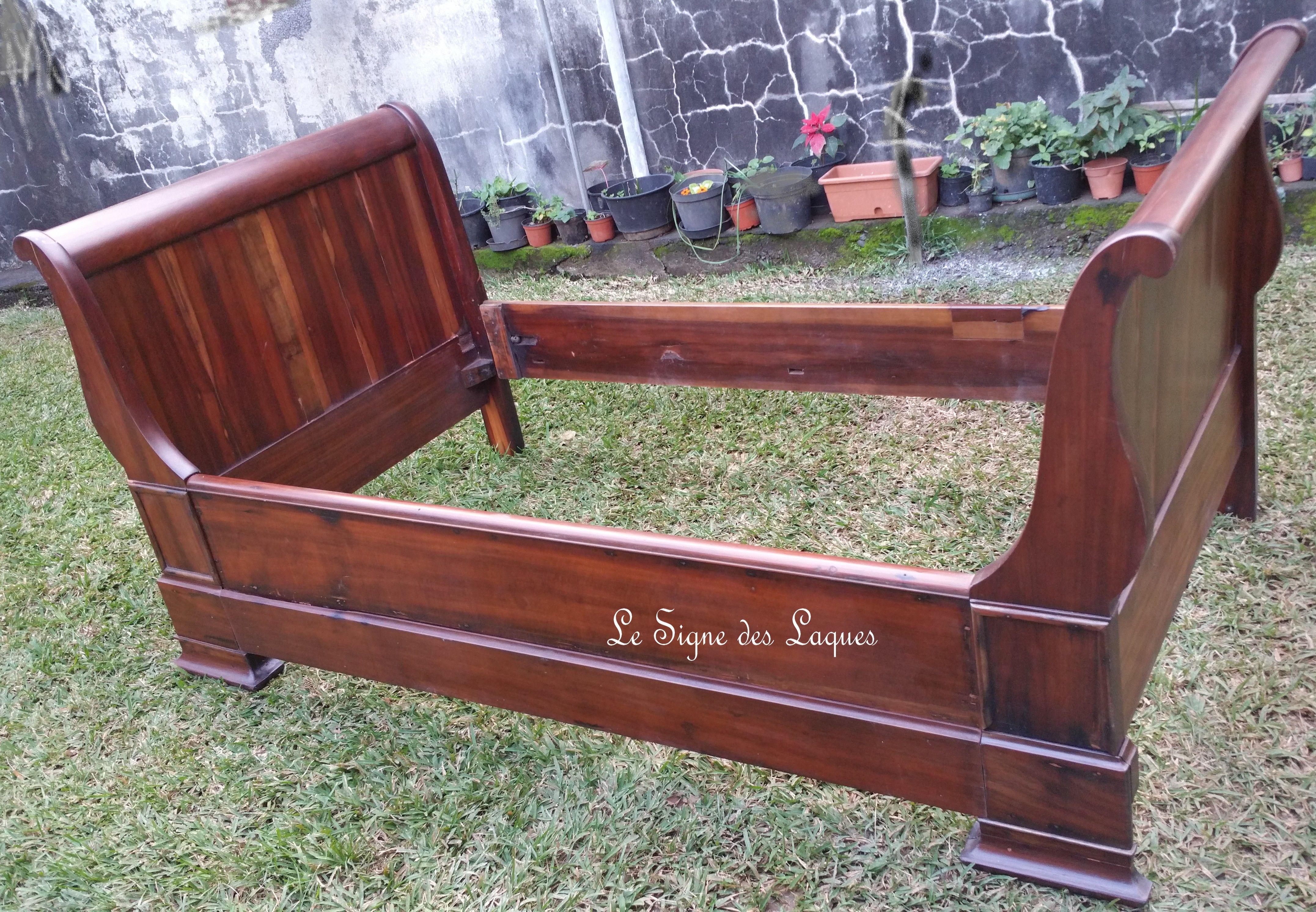 Lit bateau finition vernis mât | meubles relookés | Vernis ...