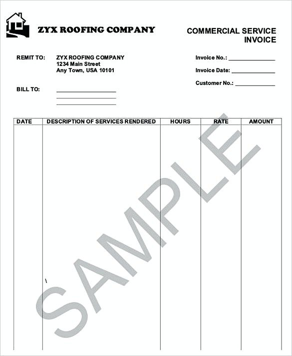 Roofing Service Invoice Templates  How To Plan Roofing Invoice