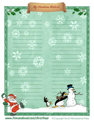 Christmas Wishlist Printable Christmas Printables Pinterest - christmas wish list paper