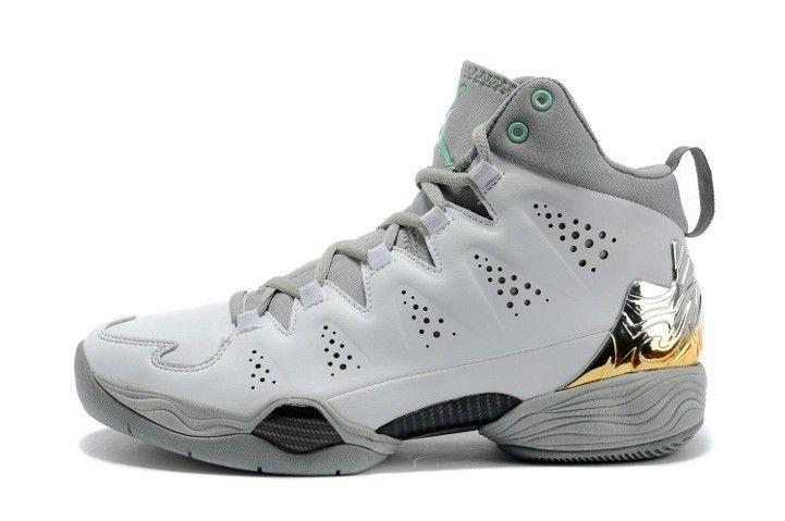 Jordan Melo M10 Metallic Silver White Grey New Basketball Shoes