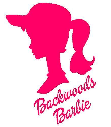 Backwoods barbie girl 6 pink car truck vinyl decal art w https