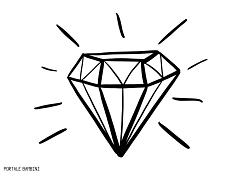 Disegni Di Diamanti Da Stampare E Colorare Gratis Portale Bambini Diamond Coloringpages Coloringinspiration Coloring C Diamante Disegni Disegni A Mano