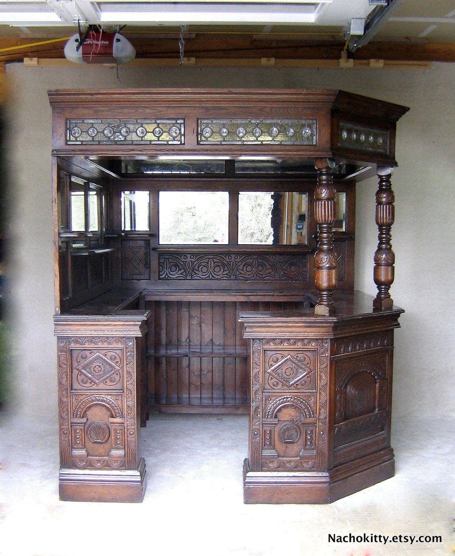 Pub Bar Saloon Antique Wood
