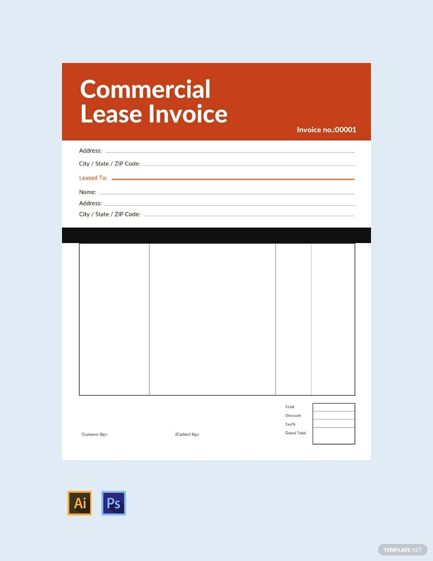 Free Commercial Lease Invoice Template Ad Paid Commercial Free Lease Template Inv Invoice Template Word Invoice Template Invoice Design Template