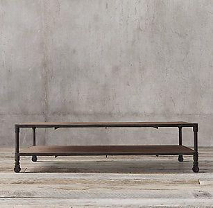 All Coffee Tables   RH Dutch Industrial Coffee Table Media Room?