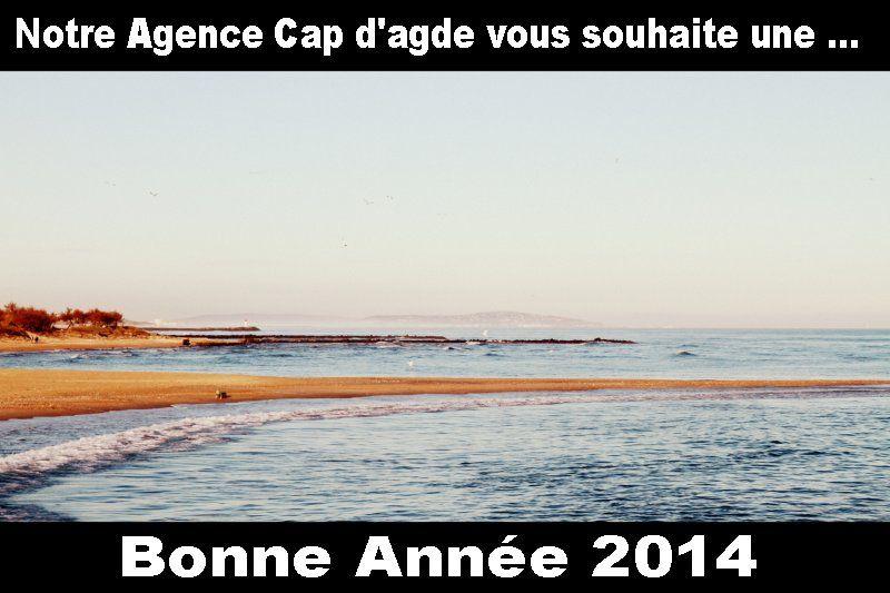 Bonne année 2014 a tous les amoureux du Cap d'agde, une photo prise debut janvier 2014