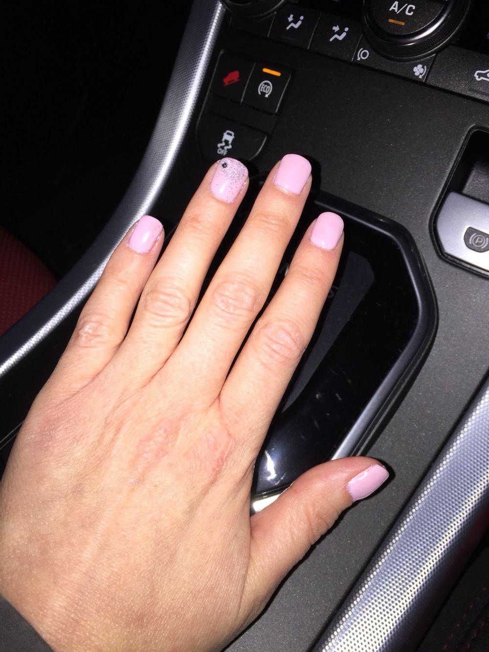 Pink and Diamond Nails   Nail ideas   Pinterest