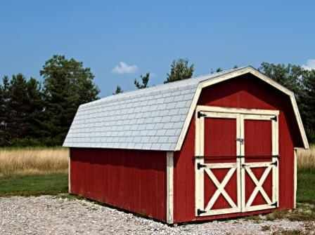 A Barn Style Studio Red And White