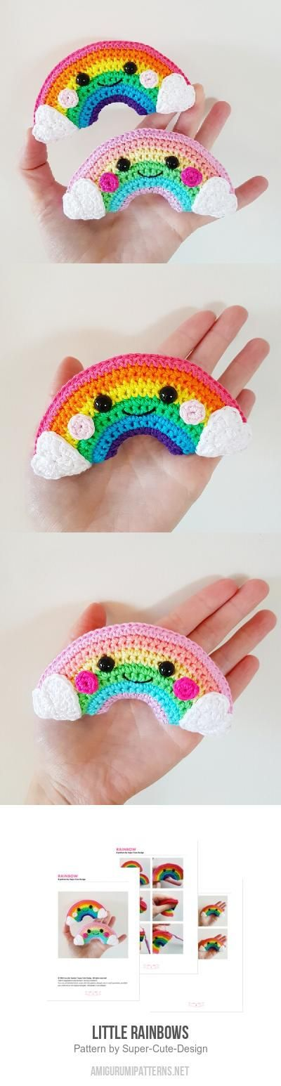 Little Rainbows amigurumi pattern by Super Cute Design | Tejido ...