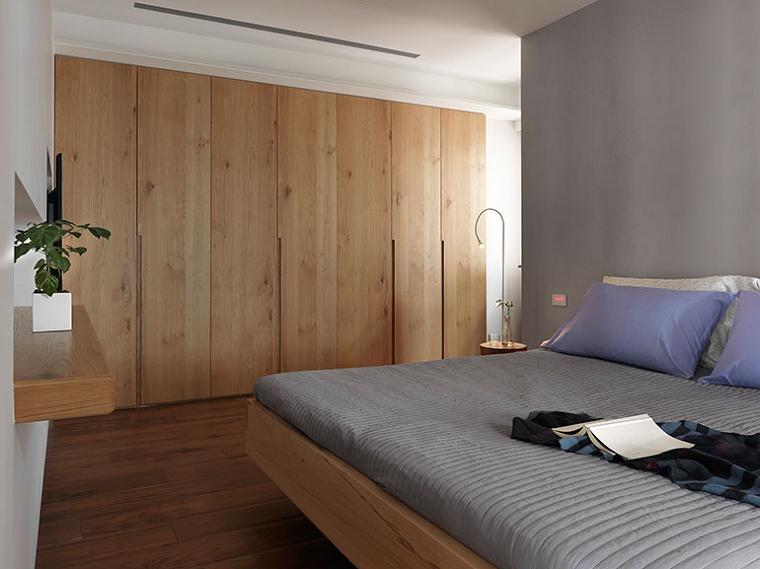 Dormitorio al estilo minimalista armario empotrado en la - Dormitorios con armario ...