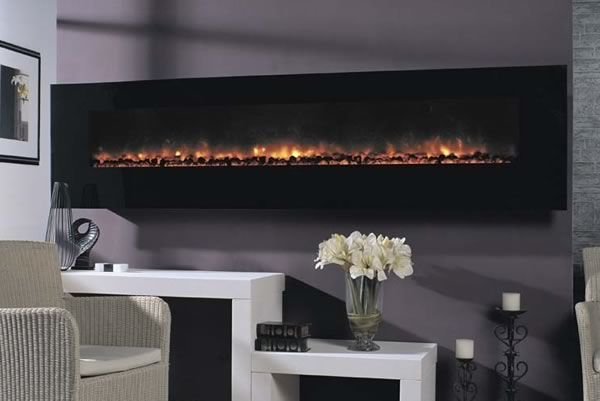 Giant Modern Flame Dream Flame Ambiance 95  Wall Electric Fireplace