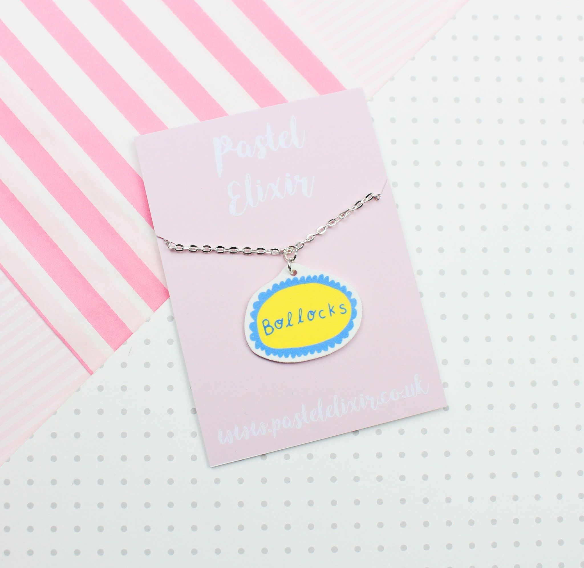Cheeky British Slang Phrase Necklaces From Pastelelixir