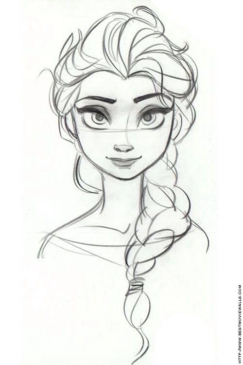Dessin elza la reine des neiges dessin en 2018 pinterest dessin dessins disney et art - Dessin etoile des neiges ...