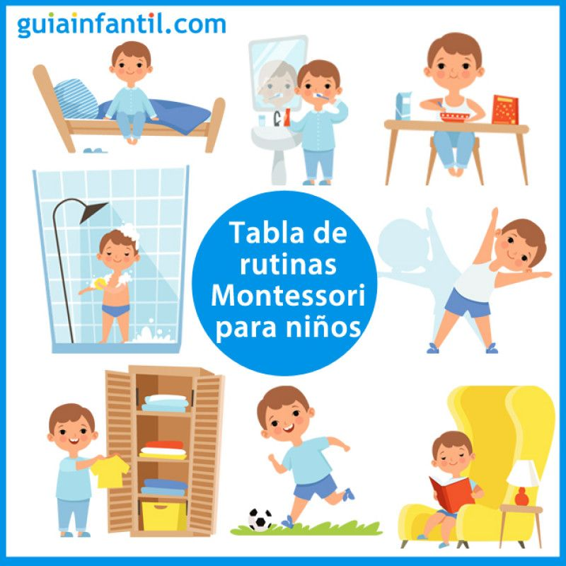 Tabla De Rutinas Montessori Para Que Los Ninos Hagan Sus Tareas