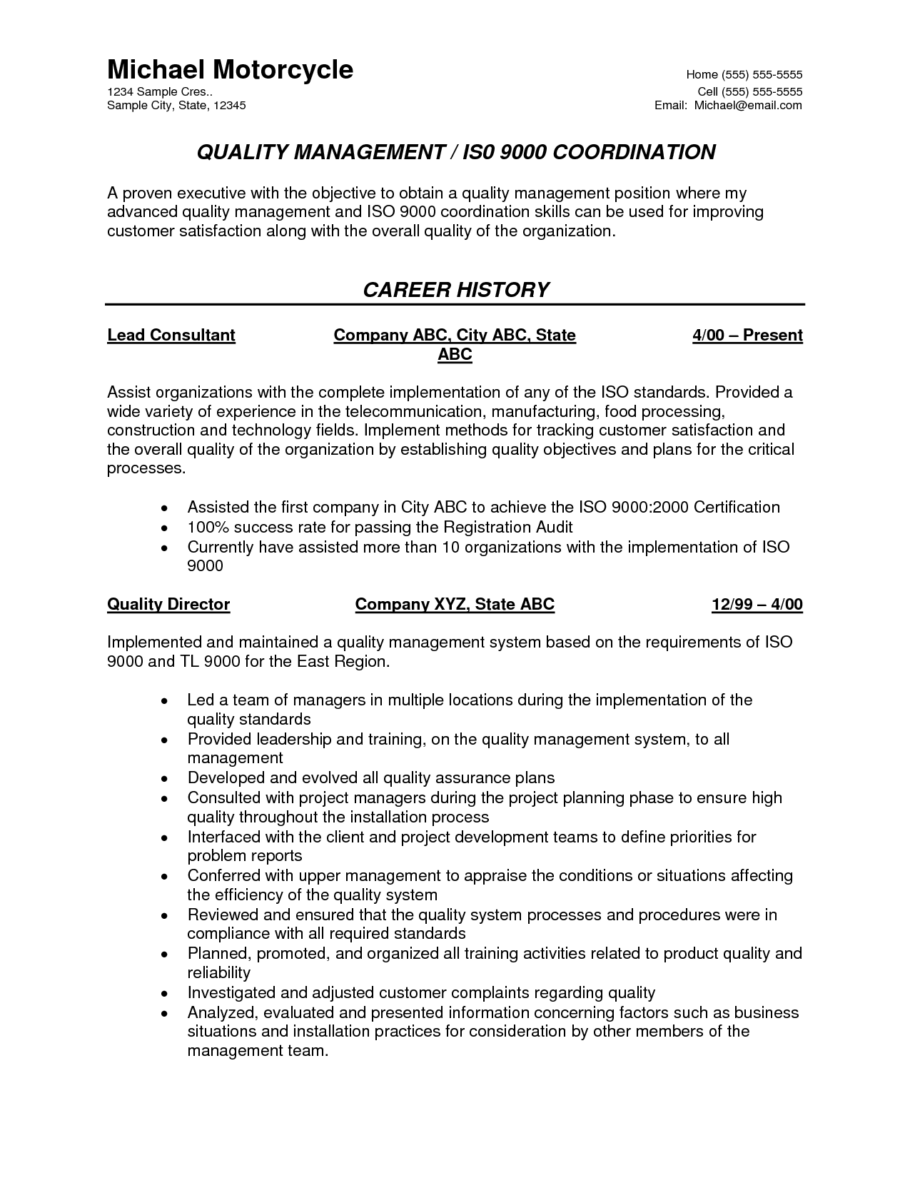 Resume Format Quality Control Engineer Resume Format Best Resume Format Resume