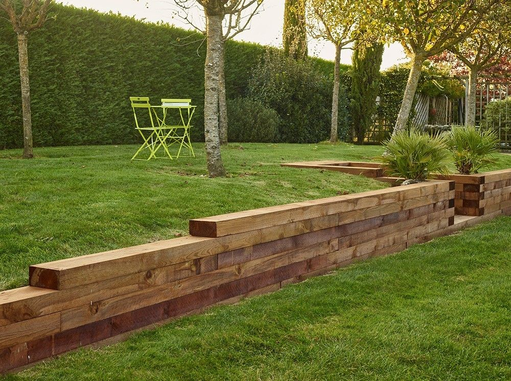 Epingle Par Nicolas Gautier Sur Retenue Terre Traverse Bois Bordure Jardin Paysagiste