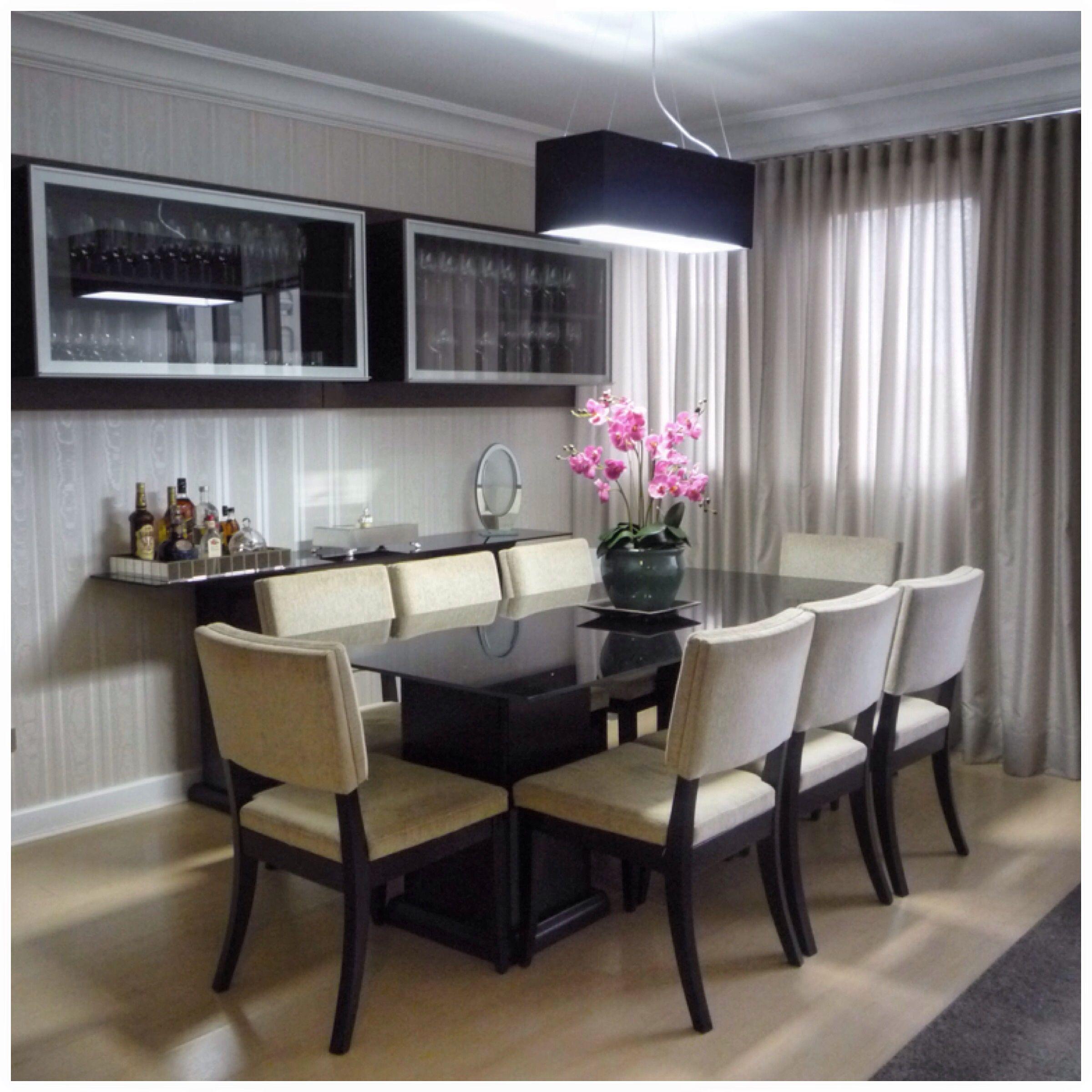 Sala De Jantar Com Cristaleira Suspensa Sala De Jantar Pinterest  -> Adega Para Sala De Jantar Pequena
