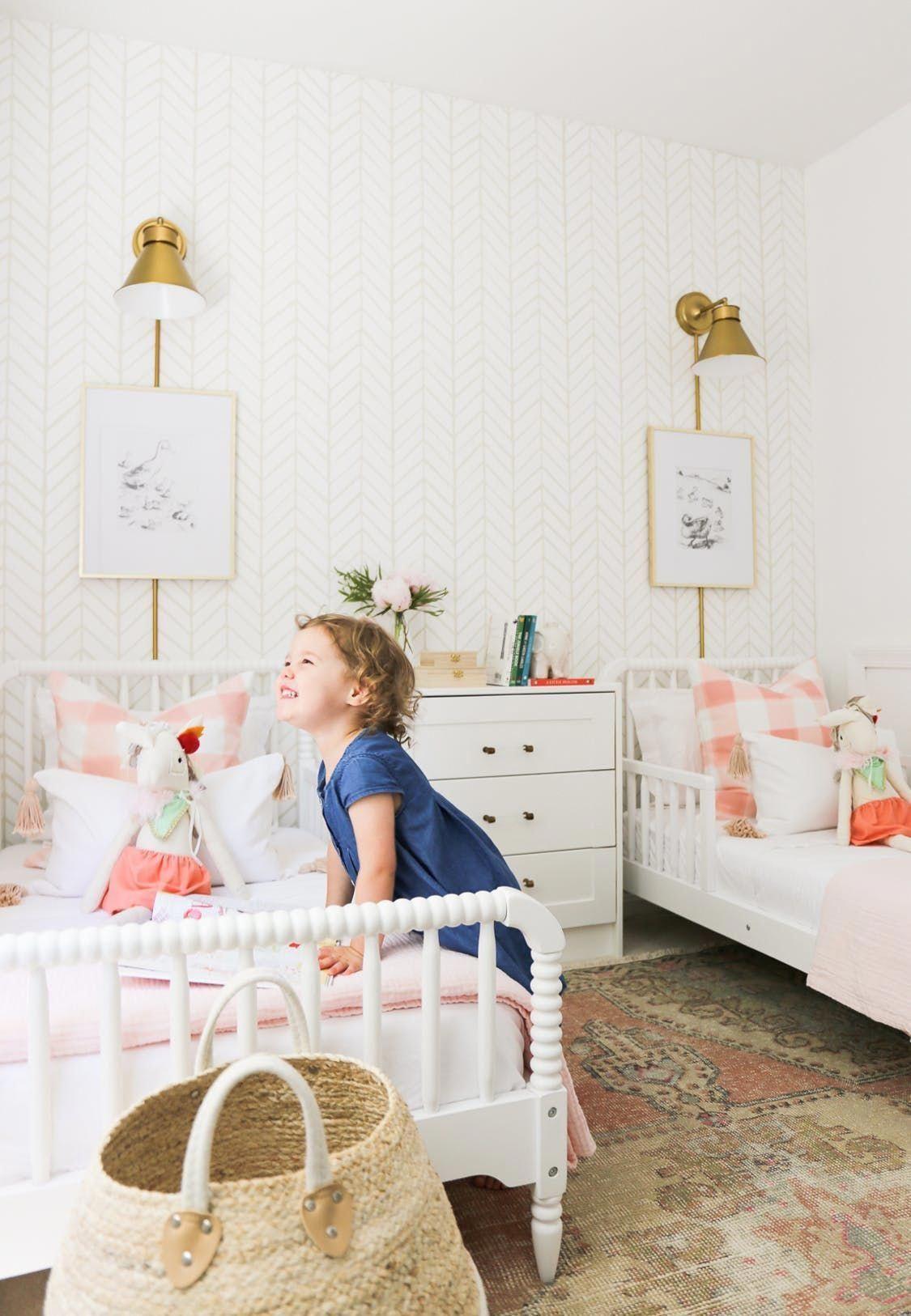 A Pretty in Pink Big Girl Bedroom Big girl bedrooms