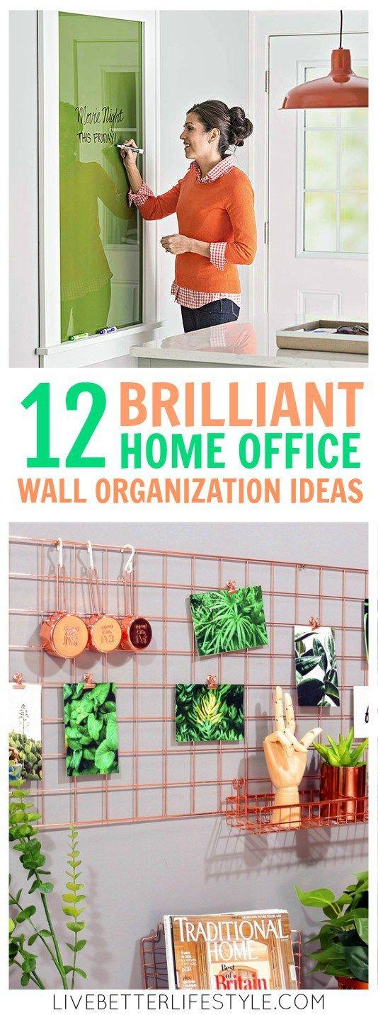 12 Brilliant Home Office Wall Organization Ideas