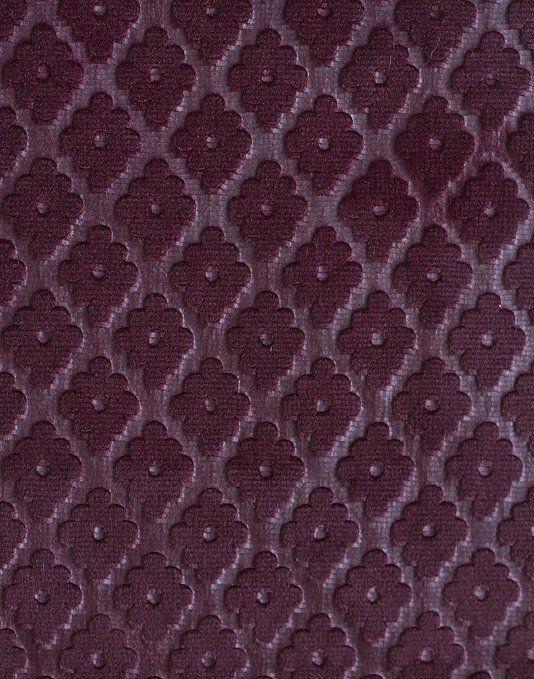 Cassandre Velvet Damask Embossed Damson Velvet Upholstery Fabric