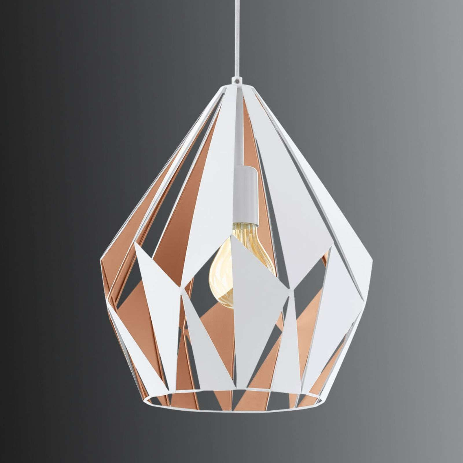 Photo of Pendant lamp Carlton, white-gold, Ø 31cm