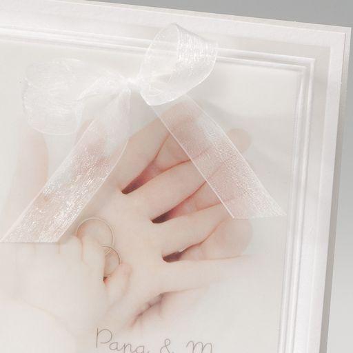 Hochzeitskarte Transparentpapier Trauringe Auf Handen Mit Baby Taufe