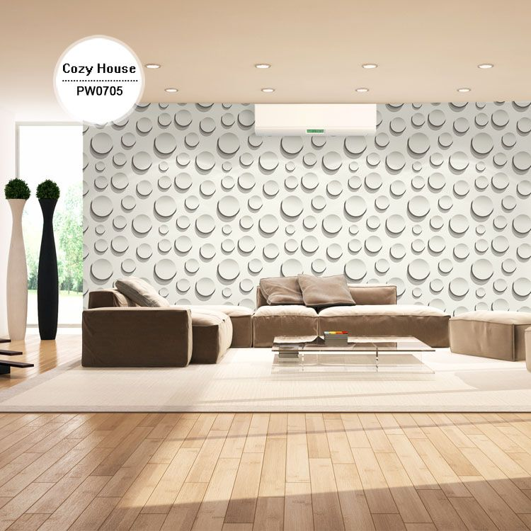 (Buy here: http://appdeal.ru/o4c ) High Quality Printed Vinyl PVC Coated Wallpaper Modern Circle Wall Paper Mural Decal For Living Room Moisture-proof Home Decor for just US $33.00