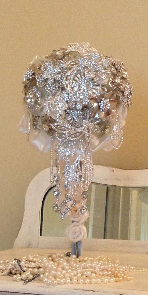 Custom Cascading Brooch Bouquet In Choice of Color 325.00