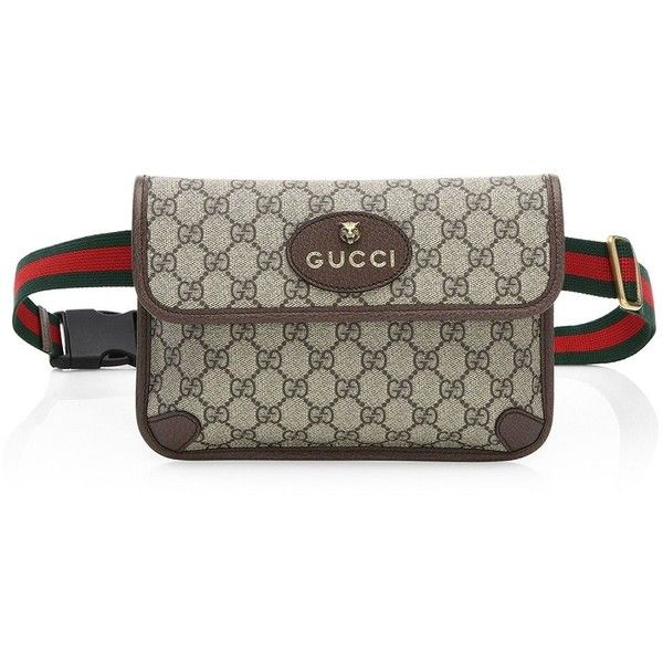 147c3153f03 Gucci Neo Vintage Canvas Belt Bag ( 750) ❤ liked on Polyvore featuring bags