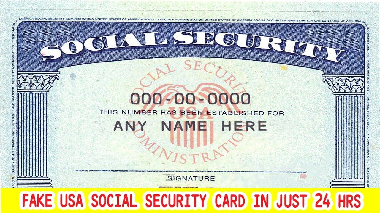 Will Design Or Edit Your Social Security Card Number And Name Social Security Card Business Template Student Business Cards